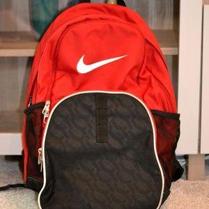 Nike Red Backpack 4 Zipper Pockets